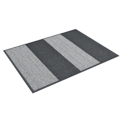 Textura Block Doormat Color: Charcoal, Rug Size: 3 x 8