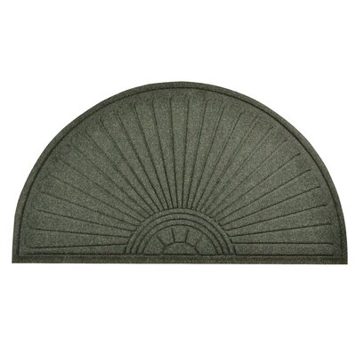 Guzzler Sunburst Doormat Mat Size: Half Moon 510 x 3, Color: Hunter Green