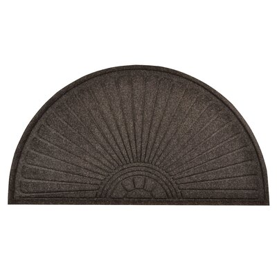 Guzzler Sunburst Doormat Color: Charcoal, Rug Size: Half Moon 38 x 111