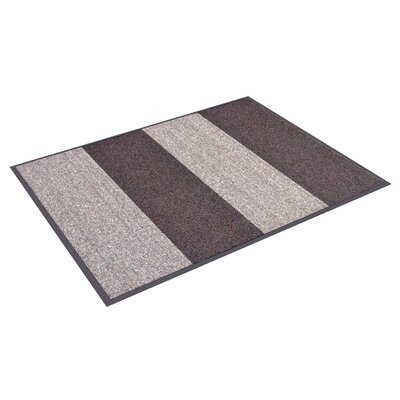Textura Block Doormat Color: Brown, Rug Size: 3 x 12