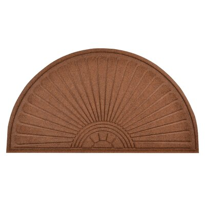 Guzzler Sunburst Doormat Mat Size: Half Moon 510 x 3, Color: Brown