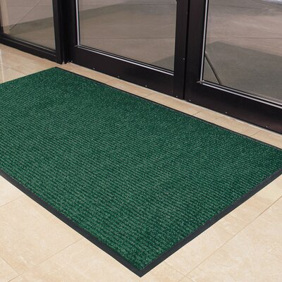 Brush Step Doormat Color: Green, Size: 4 x 6