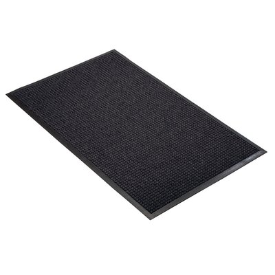 Guzzler Solid Doormat Mat Size: Rectangle 3 x 4, Color: Charcoal