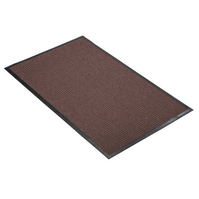 Guzzler Solid Doormat Mat Size: Rectangle 3 x 5, Color: Burgundy