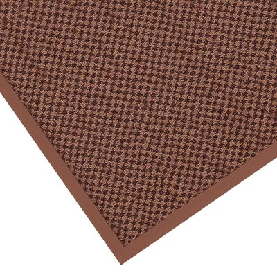 Preference Solid Doormat Size: 3 x 5, Color: Brown / Beige