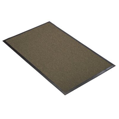 Guzzler Solid Doormat Mat Size: Rectangle 4 x 6, Color: Red / Black