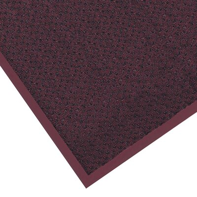 Preference Solid Doormat Size: Rectangle 3 x 6, Color: Burgundy