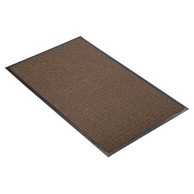 Portrait Doormat Size: Rectangle 3 x 10, Color: Brown