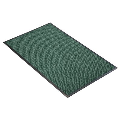 Portrait Doormat Size: 2 x 3, Color: Hunter Green