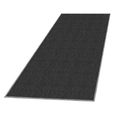 Solid Doormat Mat Size: Rectangle 3 x 5, Color: Black