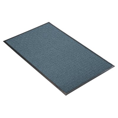 Portrait Doormat Mat Size: Rectangle 4 x 10, Color: Blue