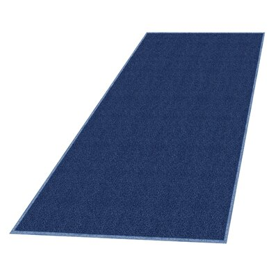 Solid Doormat Mat Size: Rectangle 4 x 6, Color: Navy Blue