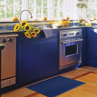 Comfort Kitchen Mat Size: 20 x 36, Color: Blue