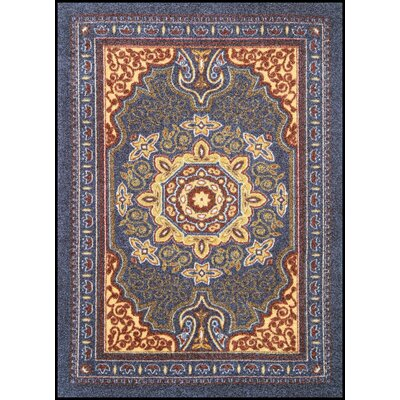 Orientrax Doormat Size: Rectangle 5 x 8, Color: Sapphire