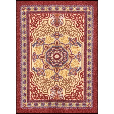 Orientrax Doormat Size: 4 x 6, Color: Burgundy