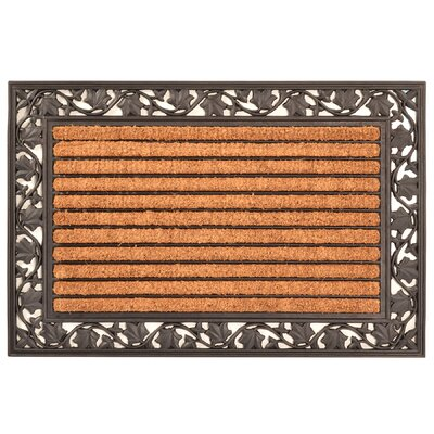 Ivy Leaf Cocoa Doormat Size: Rectangle 2 x 3