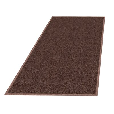 Wayfarer Solid Utility Mat Size: Rectangle 4 x 6, Color: Brown