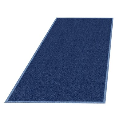 Wayfarer Solid Utility Mat Size: Rectangle 4 x 6, Color: Navy Blue