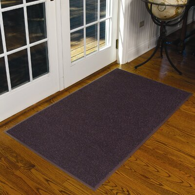 Polynib Solid Doormat Size: Rectangle 3 x 5, Color: Slate Blue