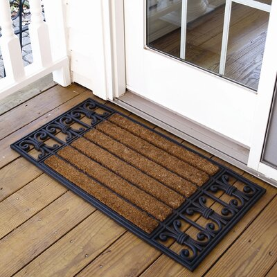 Wrought Iron Cocoa Doormat Size: Rectangle 16 x 3