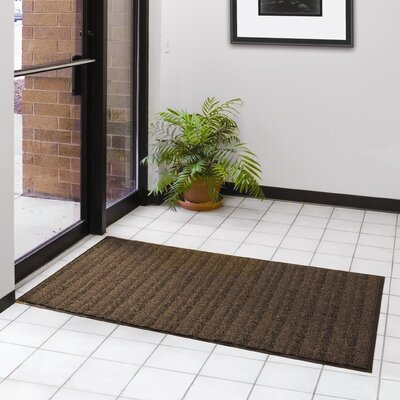 Boulevard Doormat Color: Brown, Size: 3 x 4