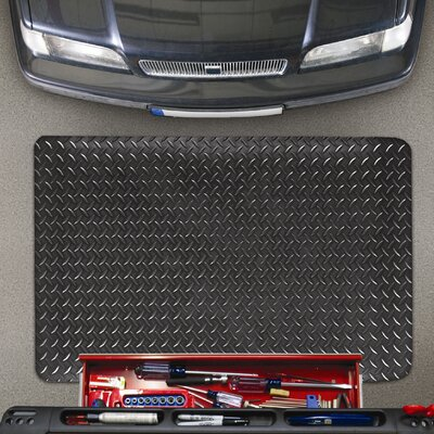 Cushion Trax Utility Mat Color: Black, Size: 3 x 5