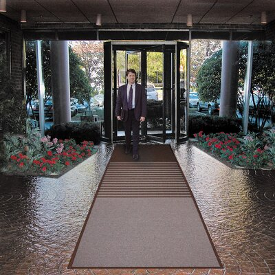 Opera Doormat Color: Burgundy, Size: Runner 3 x 12
