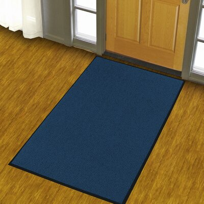 Solid Uptown Doormat Color: Navy Blue, Size: 4 x 6