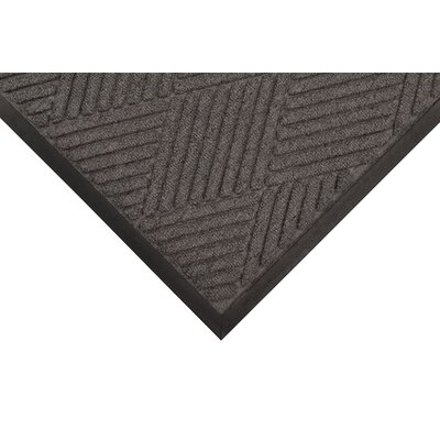 Opus Doormat Size: Rectangle 4 x 10, Color: Charcoal