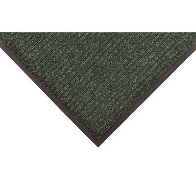 Heritage Rib Doormat Color: Green, Size: 4 x 6