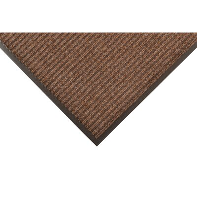 Heritage Rib Doormat Color: Brown, Size: 3 x 5