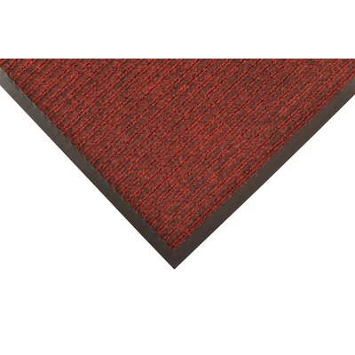 Heritage Rib Doormat Color: Red/Black, Size: 3 x 6