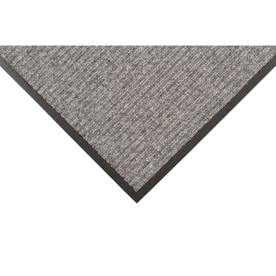 Heritage Rib Doormat Mat Size: Rectangle 3 x 6, Color: Gray