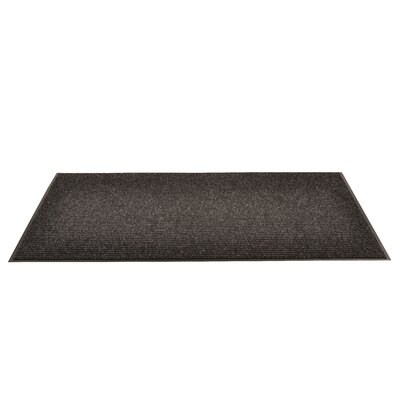 Heritage Rib Doormat Mat Size: Rectangle 3 x 6, Color: Charcoal