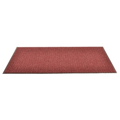 Arrow Trax Doormat Color: Burgundy, Size: 2 x 3