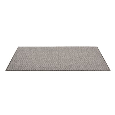 Arrow Trax Doormat Color: Gray, Size: 2 x 3