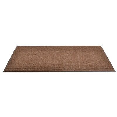 Heritage Rib Doormat Color: Brown, Size: 4 x 8