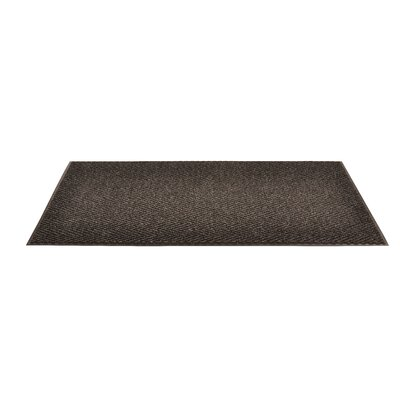 Arrow Trax Doormat Color: Charcoal, Size: 2 x 3