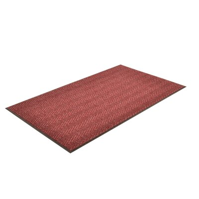 Arrow Trax Doormat Color: Burgundy, Size: 3 x 4