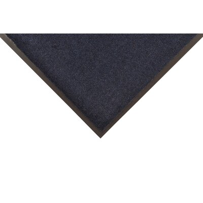 Solid Dante Doormat Color: Navy Blue, Size: 2 x 3