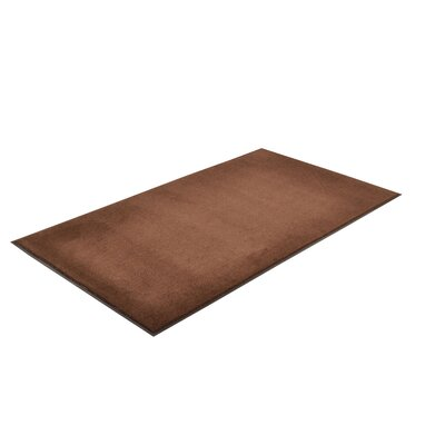 Solid Dante Doormat Color: Brown, Size: 3 x 6