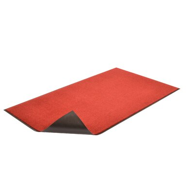 Solid Dante Doormat Color: Red/Black, Size: 3 x 4
