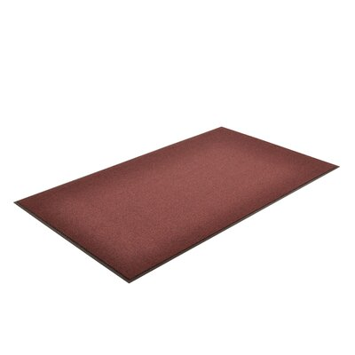 Solid Estes Doormat Mat Size: Rectangle 3 x 6, Color: Burgundy