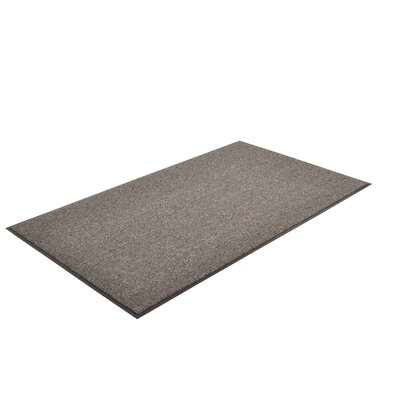 Solid Estes Doormat Color: Charcoal, Size: 4 x 8