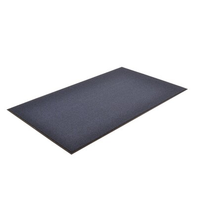 Solid Estes Doormat Size: 2 x 3, Color: Navy Blue