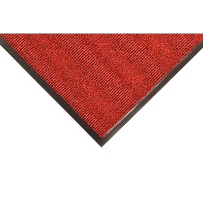 Boulevard Doormat Color: Red/Black, Size: 4 x 6