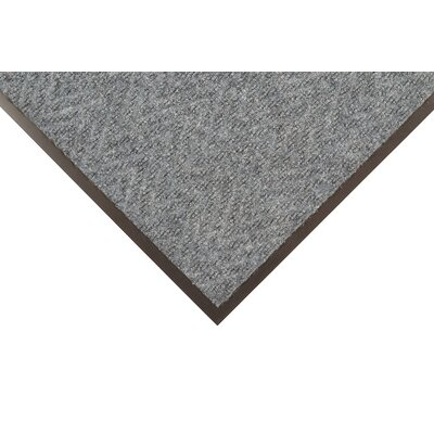 Chevron Doormat Color: Charcoal, Size: 3 x 6