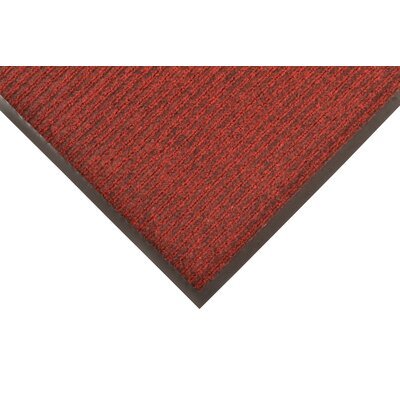 Doormat Mat Size: Rectangle 3 x 6, Color: Red/Black