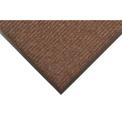 Brush Step Doormat Color: Brown, Size: Runner 3 x 10
