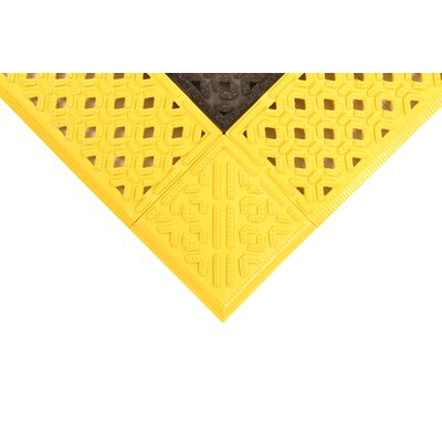 Cushion-Lok Utility Mat Size: Rectangle 26 x 6, Color: Black/Yellow